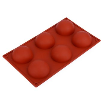 Harga 6 Even Large Domed DIY Silicone Cake Soap Jelly Pudding Chocolate Mold - Intl