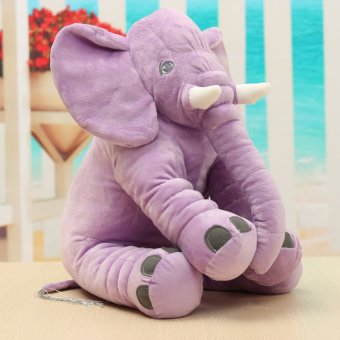 Baby Children Elephant Doll Sleeping Pillow Soft Plush Stuff Toys Xmas Pillow Purple - intl Price Philippines