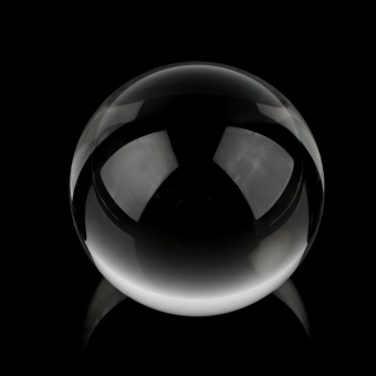 Allwin 80mm Clear Round Glass Artificial Crystal Healing Ball Sphere Decoration (White) Price Philippines