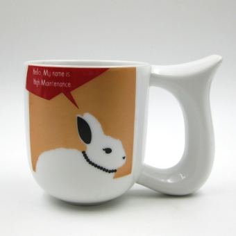 Harga Multiple Choice Stoneage Mug - Say What? (Rabbit)