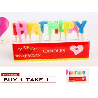 Harga Happy Birthday Letter Candles Toothpick Cake Candle Kids Party Decoration BUY 1 TAKE 1
