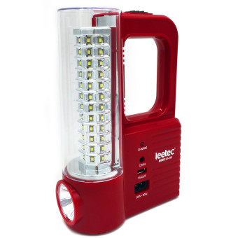 Harga Leetec LT-215 Rechargeable Emergency Lantern (Red)