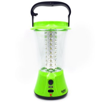 Harga Leetec LT-211S Rechargeable Emergency Lantern Built-in Solar Charger (Green)
