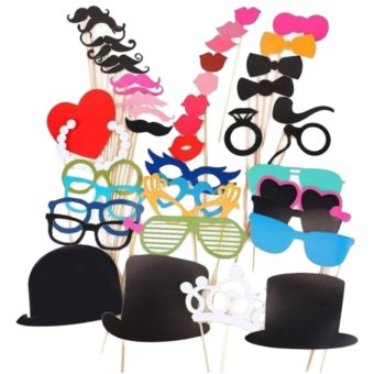 Harga Photo Booth Props For Wedding Party Moustache Lips On A Stick Photobooth 44pcs