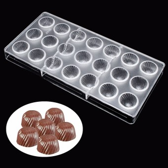 Hard Screw Thread Shaped PC Polycarbonate 21 Chocolate Molds Candy Moulds Tray - intl Price Philippines
