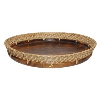 Baguio Wood Carved Food Tray (Round) Price Philippines