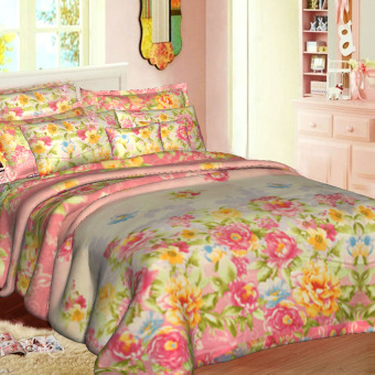 "Sleep Essentials Blossom Series Floral Jane 3 Piece Bedding Set (Fits 3"" to 6"" Bed Cushion) Price Philippines"