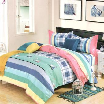 Harga Beverly's Linen Collection Comforter Set of 4 (Design-009)Queen
