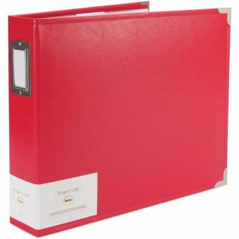 "American Craft Project Life 12""x12"" D-ring Scrapbook Album - Classic Faux Leather - Cherry Price Philippines"