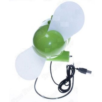 Mini Portable USB and Battery Powered Desktop Fan (Green) Price Philippines