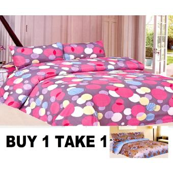 BUY 1 TAKE 1 3-Piece Queen Size Bedding with Luxury Cotton Feel- Benevolent Cosmos and Nostalgia Series by Manhattan Homemaker Price Philippines