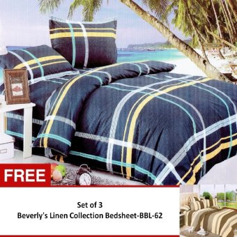 Harga Beverly's Linen Collection Bedsheet Set of 3 (BBL-39) with Free Beverly's Linen Collection Bedsheet (BBL-62)