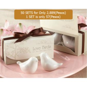 50 sets Dove salt pepper shaker wedding favor wedding party supplies wedding gifts for guests wedding souvenirs Price Philippines