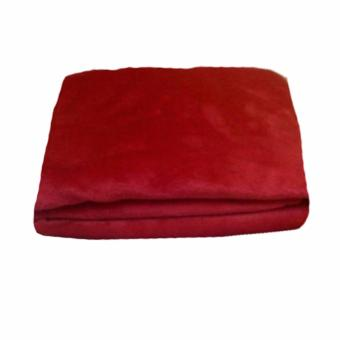 Harga Beverly's Linen Collection Polar Fleece Blanket Red - (180 x 220)