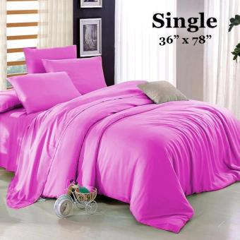 "Sleep Essentials 3-in-1 Fitted Sheets Plain Purple Bedsheet -Single 36"" x 78"" Price Philippines"