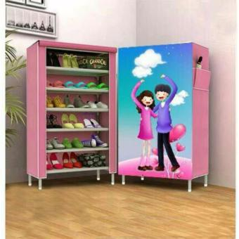 Harga 3D Pattern Non-Woven Folding Shoe Storage