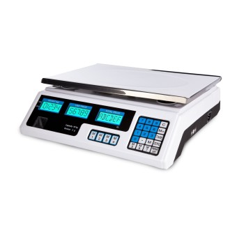 Harga Food Meat Produce Weight Digital Price Computing Scales - 40 kg / 2 g - white - LCD