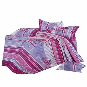 Harga Cherry Linen Comforter 4-piece Set (Multicolor)