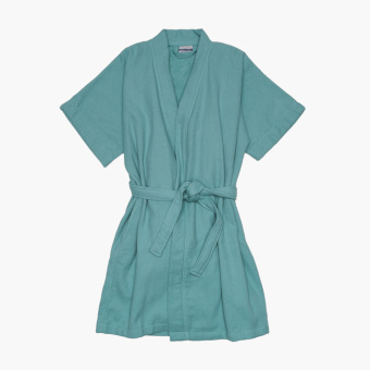 Canadian Waffle Terry Bathrobe (Aqua) Price Philippines