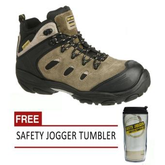 Safety Jogger Xplore S3 High Cut Men Safety Shoes Footwear Composite Toe (Brown/Black) with Free Safety Jogger Tumbler Price Philippines
