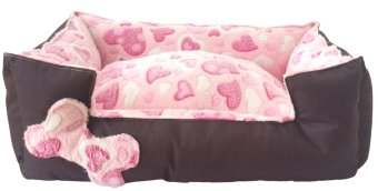 Harga Pet Depot Pink Hearts Small Dog Bed Pink
