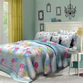 "Sleep Essentials Bloom Series Jazzy Blossom 3 Piece Bedding Set (Fits 3"" to 6"" Bed Cushion) Price Philippines"