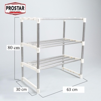 Harga Prostar 3 tier Stainless Steel Microwave Stand / Shelving / Racking