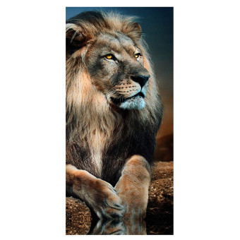 Harga 5 Panels Canvas Sitting Male Lion Leo Print Wall Art Painting Picture Home Decor New - intl