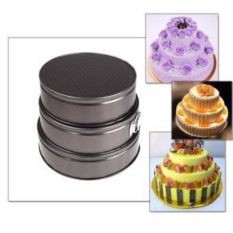 Harga Springform Pans Cake Bake Mould Mold Bakeware with Removable Bottom Round Shape Versatile Sturdy Cake Tools Set of 2