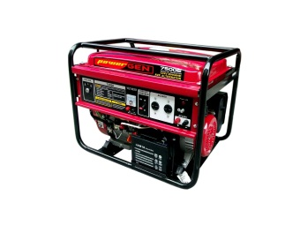Harga Powergen 7500E Portable Generator (Red/Black)