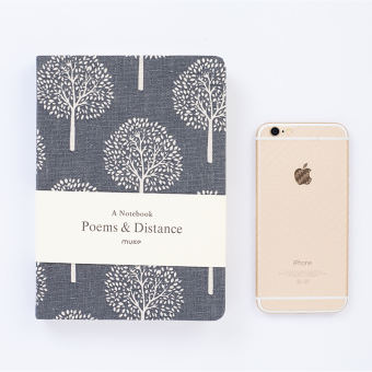 Indie solid color blank hand notebook cloth notepad
