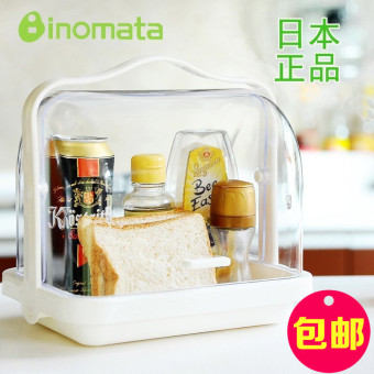 Inomata plastic carry-Bread Box transparent storage box