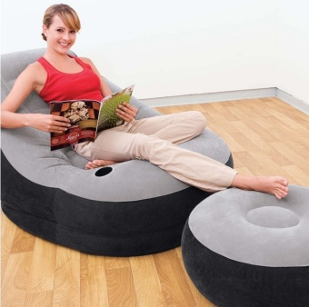 INTEX 68564 Inflatable Sofa, Single Lazy Sofa Chair, FoldingOutdoor Leisure Sofa Bed - intl