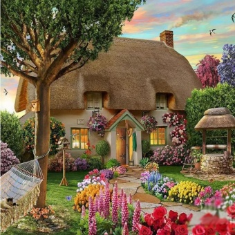 J&Ceuropean-Style Fairy Tale House Diy 5D Diamond PaintingCross Stitch Full Drill Rhinestone Painting Decor No.9471 Price Philippines