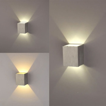 Jo.In 3W LED Square Wall Lamp Hall Walkway Living Room LightFixture (Yellow)