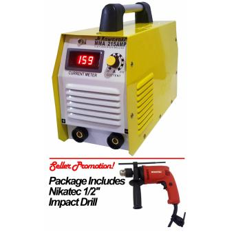"JR Kawasaki MMA-215 Inverter Welding Machine Nikatec 1/2"" ImpactDrill Package Price Philippines"