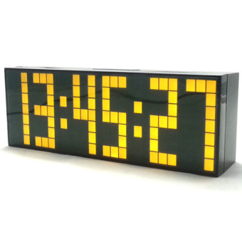 Jumbo Digital Electronic Clock LED Alarm Clock 6 digits (Yellow)