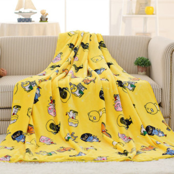 Kakao flannel lion blanket