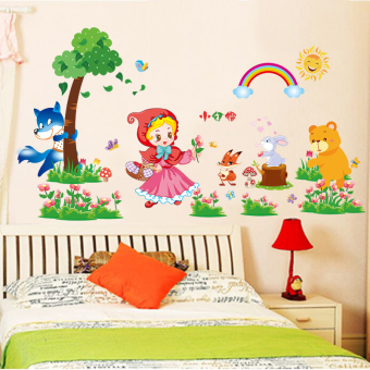 Kindergarten bedroom children's room wall adhesive paper