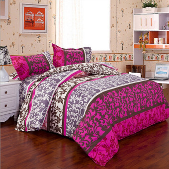 King Size Quilt Duvet Cover Pillow Case Bedding Bedclothes Set