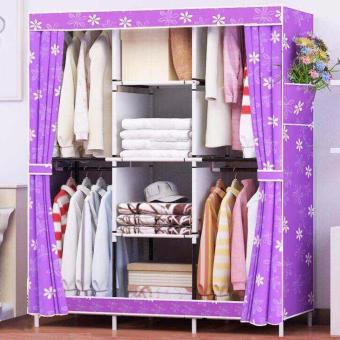 King Sized Curtain Wardrobe -Violet(pattern) Price Philippines