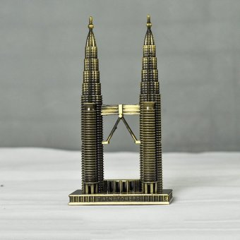 Landmarks Construction Metal Building Model Desktop decorationOrnament (Petronas Twin Tower) - intl Price Philippines