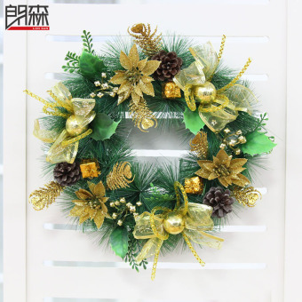 Lang Sen 40cm gold New style Christmas wreath