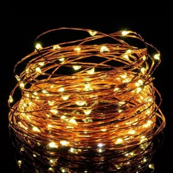 Lantoo String Lights LED Copper Wire Lights Battery Operated 30LEDs/9.8ft Flexible Starry String Fairy Lights Waterproof Rope Lights for Bedroom, Home Outdoor Garden, Wedding, Party, Xmas (Warm white)