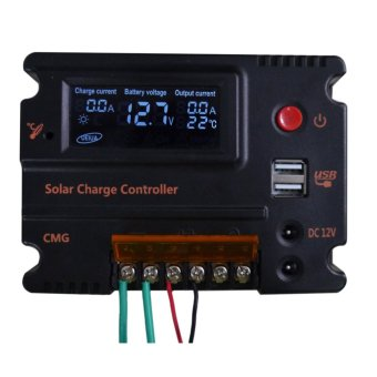 LCD Solar Panel Regulator Charge Controller 20A