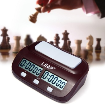 LEAP PQ9907S Digital Chess Clock I-Go Count Up Down Timer (Wine Red) - intl Price Philippines