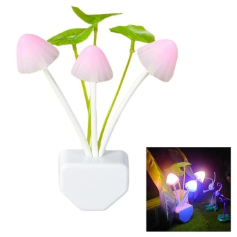 LED Colorful Mushroom-Shaped Night Light Wall Lamp(coromose) - intl