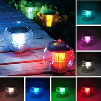 LED Solar Lantern Water Ball Light Colorful LED Floating Yard PondGarden Pool Night Light - intl Price Philippines