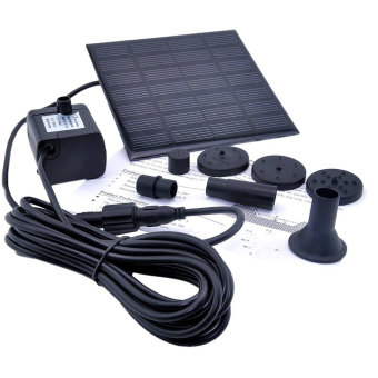 Leegoal 1.2 Watt Solar Power Water Pump Garden Fountain Submersible Pump (Black) - intl