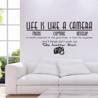 Life Is like a Camera Quote Wall Stickers Home Decals Decoration Diy Vinyl Room Price Philippines